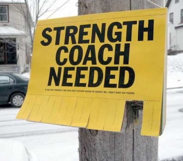 Strength Coach Tear Off Posters