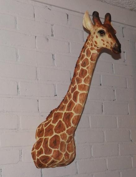 Wall Mounted Wooden Giraffe