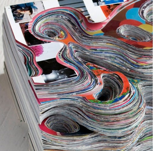 Top 10 Amazing Magazine Pages Carved into Art