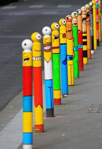 Top 10 Best Images of Painted Bollards
