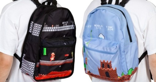 Super Mario reversible backpack
