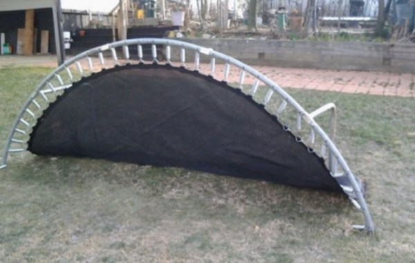 Trampoline Turned Into a Football Goal