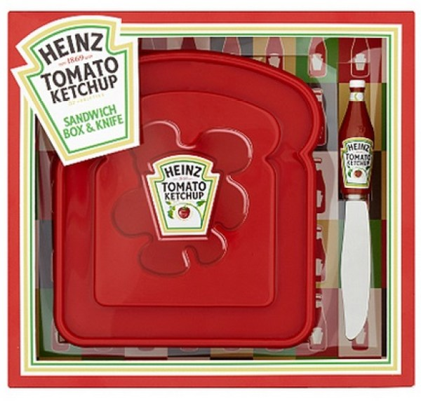 Heinz Tomato Ketchup Sandwich Box and Knife