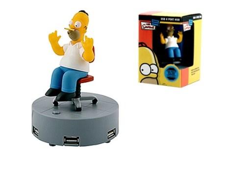 Homer Simpson Animated USB 4 Port Hub