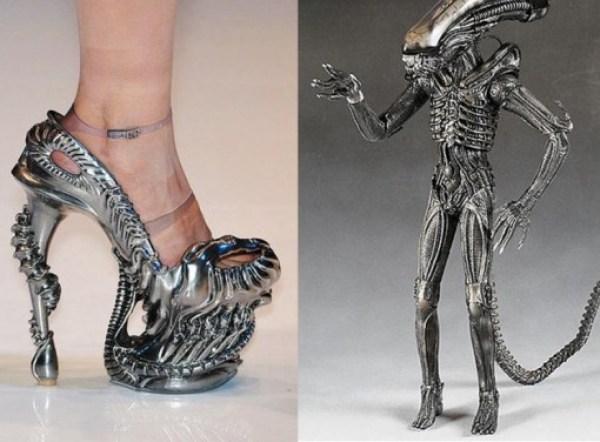 Alien-Inspired High-Heel Shoes