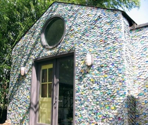 Top 10 homes built from recycled materials for Waste material used in home