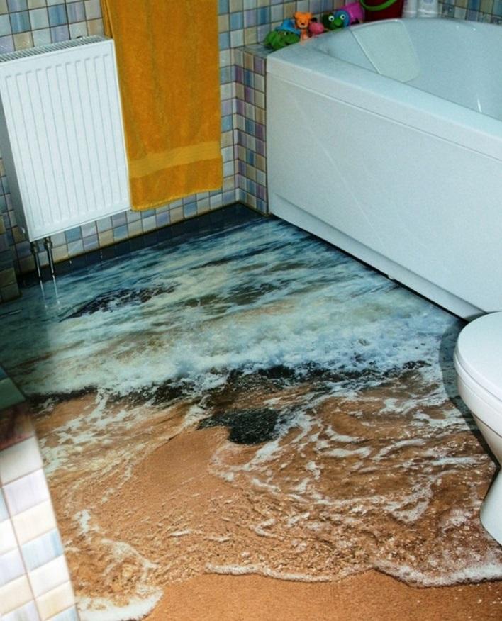 10 Creative And Unusual Bathroom Floors. Cool Bathroom Floors   Poxtel com