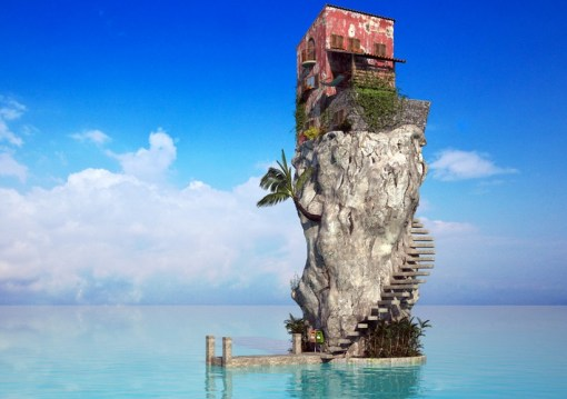 Top 10 Fake Islands of Solitude (Digital Art)
