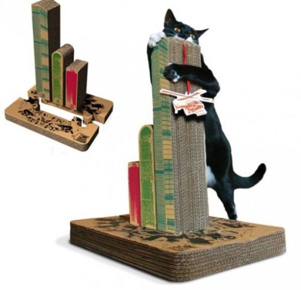Cat Scratching Cityscape