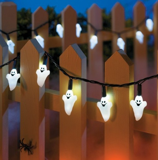 Happy Ghosts Halloween String Lights