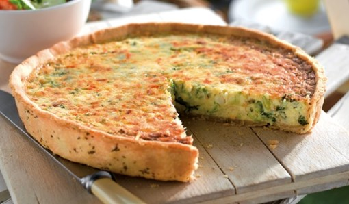 Crab & Watercress Quiche