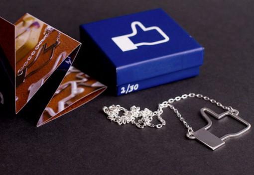 "Facebook ""Like"" Silver Pendant"