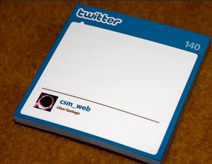 Twitter Post-It Notes
