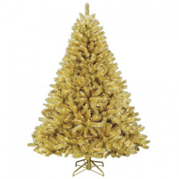 Gold Coloured Christmas Tree
