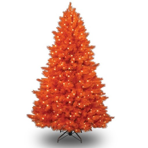 Orange Coloured Christmas Tree