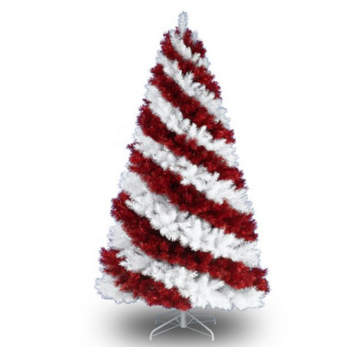Red-White Coloured Christmas Tree