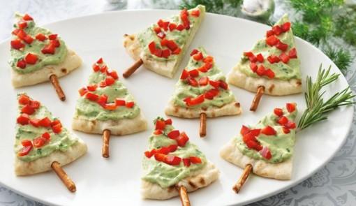 Christmas Tree Pita Appetisers