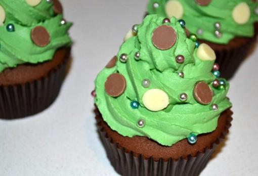 Christmas Tree Chocolate Cupcakes