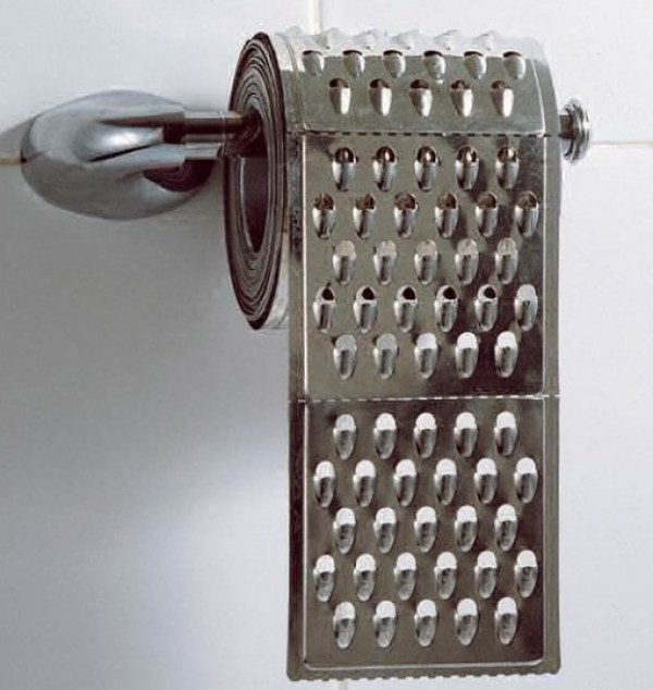 Cheese Grater Toilet Paper / Loo Roll