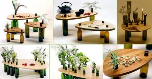 Wine Bottle Coffee Table