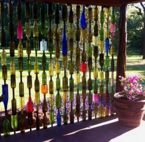 Wine Bottle Garden Fence