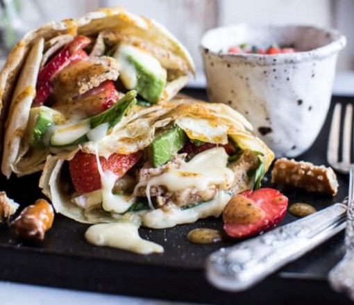 Pretzel Crusted Chicken Savoury Crepes