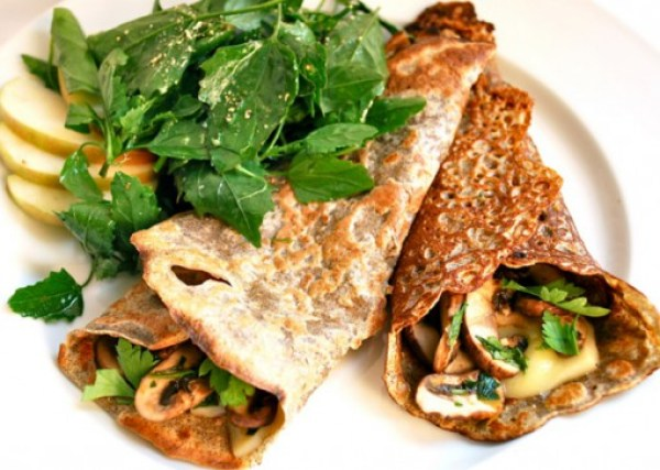 Mushrooms and Swiss Cheese Savoury Crepes