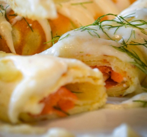 Smoked Salmon Savoury Crepes
