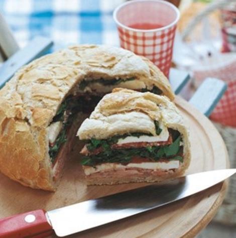 Ham Sandwich Stuffed Loaf