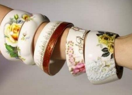 Old Mug Or Cup Used To Make Arm Bracelets