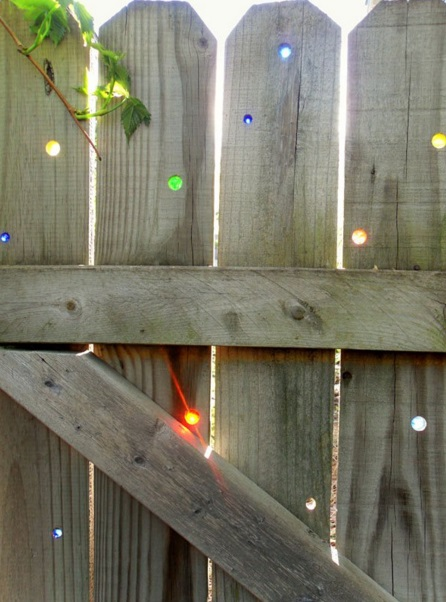Glass Marbles Used To Make Colourful Fence