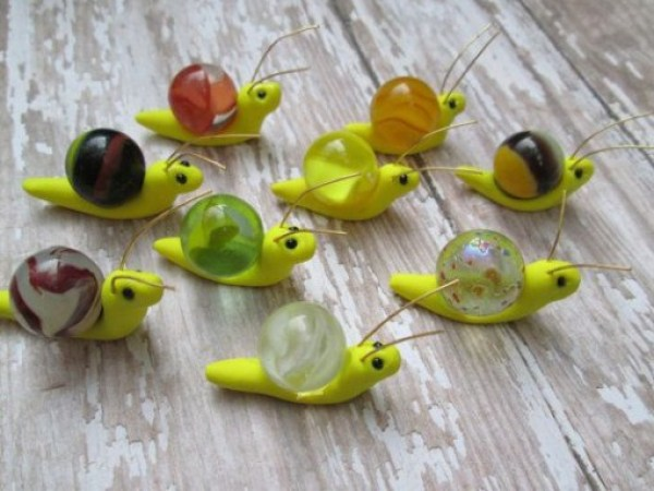 Glass Marbles Used To Make Snails