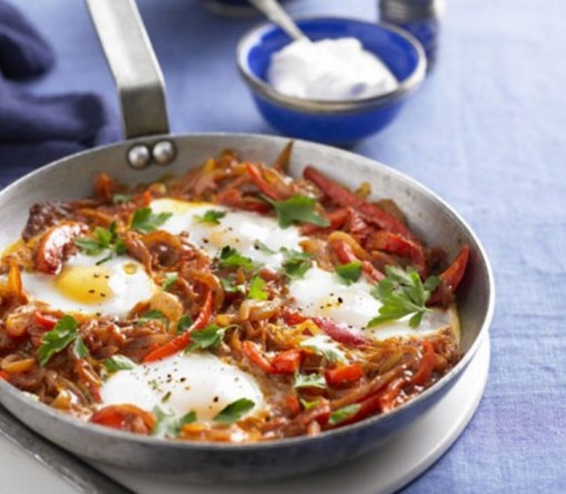 One-Pan Turkish Eggs & Peppers