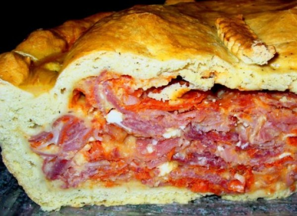 Salami Easter Pie