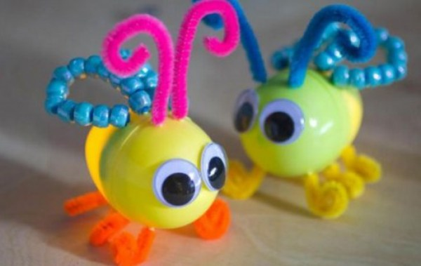 Glow Bugs Made From Kinder Surprise Containers