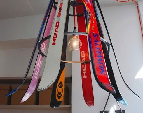 Snow Ski Transformed Into A Light Shade