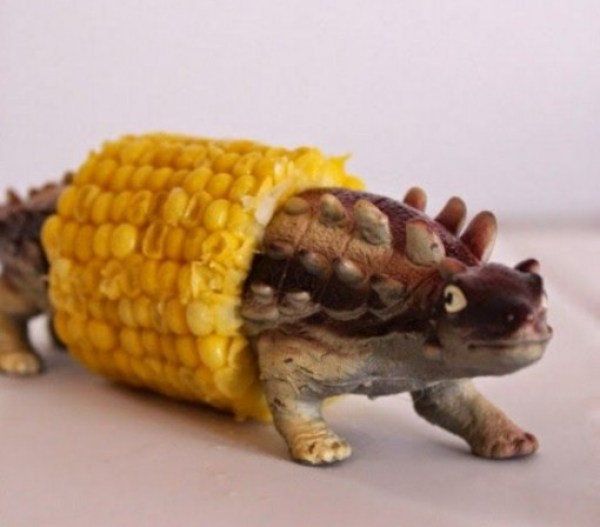 Toy Dinosaur Corn Cob Holder