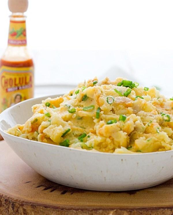 Cheddar & Cholula Mashed Potato