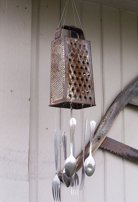 Cheese Grater Transformed Into a Windchime
