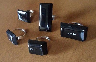 Computer Keyboard Keys Transformed Into Rings