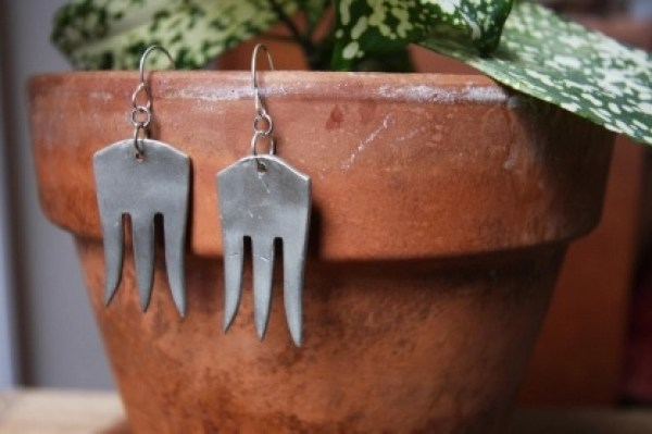 Forks Transformed Into Earrings