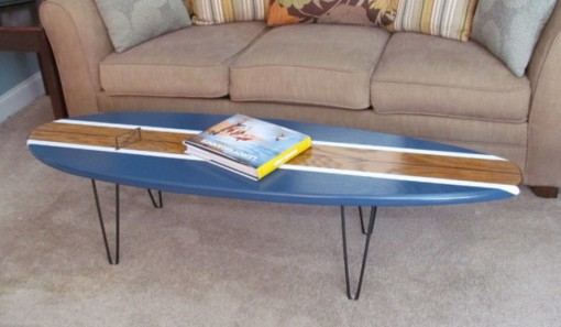 Surfboard Used To a Coffee Table