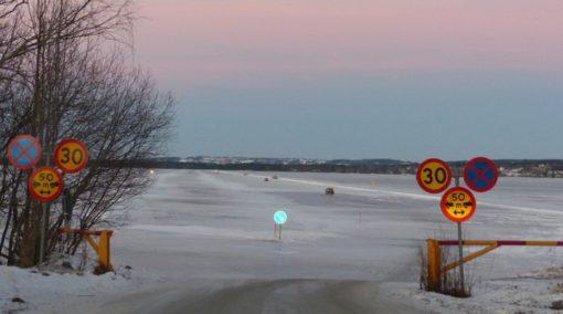 Storsjon's Highway Ice Bridge, Storsjön