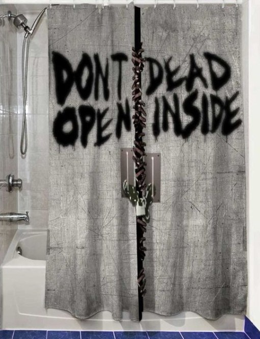 Walking Dead Shower Curtain