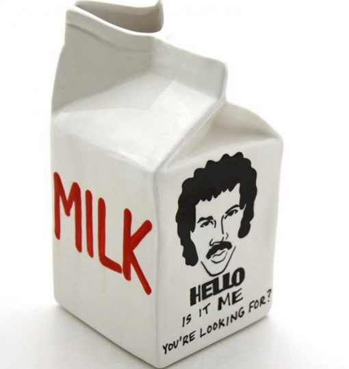 Lionel Richie Ceramic Milk Carton
