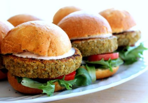 Chickpea & Sweet Potato Burgers