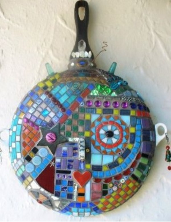 Frying Pan / Skillet Transformed Into a Art