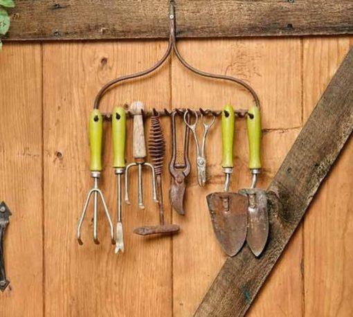 Garden Tools Transformed Into Tool Organiser