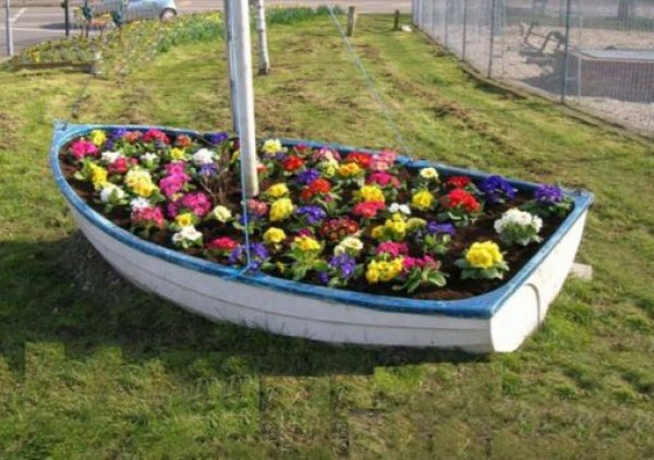 Rowing Boat Transformed Into a Planter