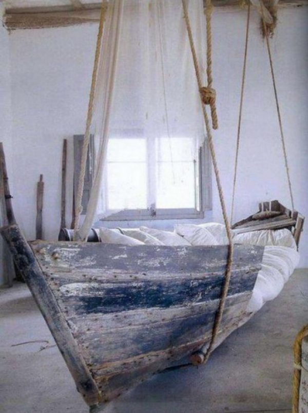 Rowing Boat Transformed Into a Swinging Sofa / Bed